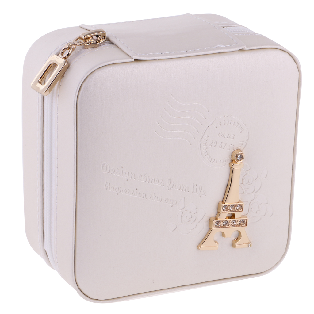 Portable Travel Jewellery Box Jewellery Case Storage Gift Pink and Green