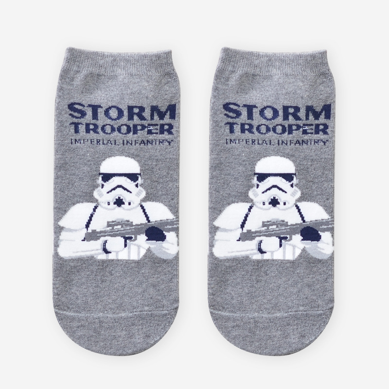 10pairs/lot Summer New Male Comics Star Wars Cartoon Socks harajuku Black Warrior Personality Funny invisible socks men ankle