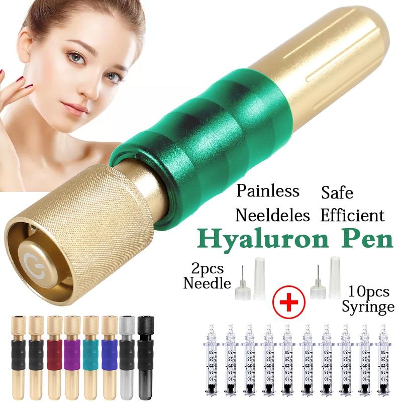 Newest No-Needle Mesotherapy Gun Atomizer Hyaluronic Stift Pen Lip Dermal Filler Injector Anti-wrinkle Meso Hyaluron Acid Pen