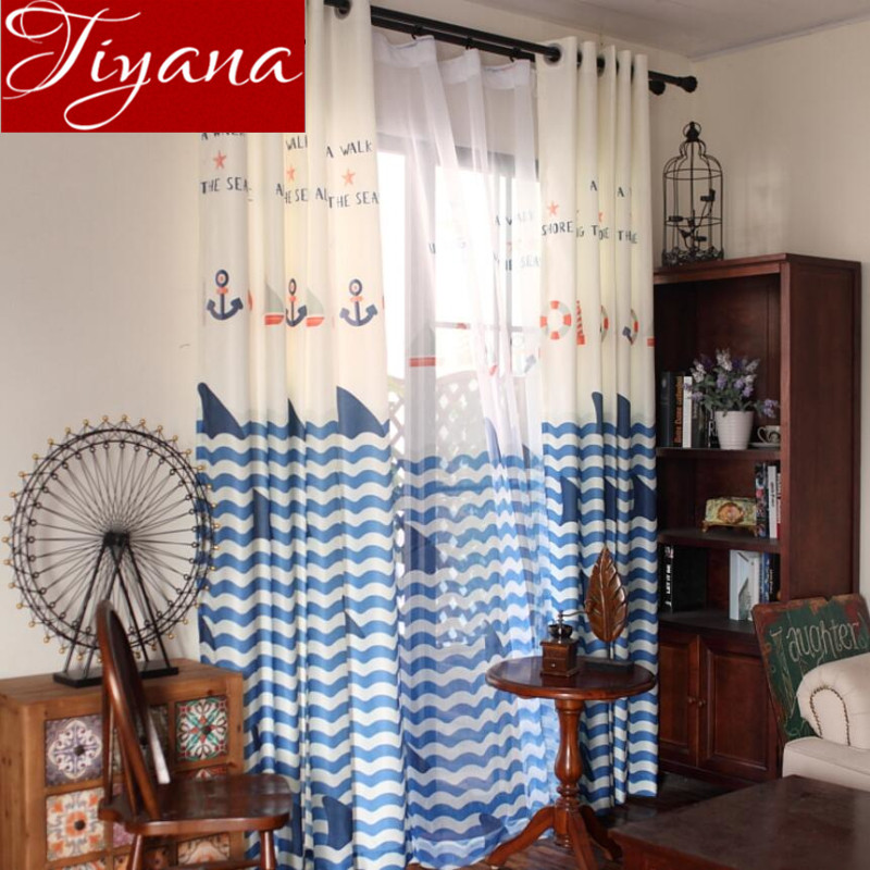 Curtains Kids Boys Bedroom Print Voile Window Modern Living Room Tulle Curtains Drapes Sheer Fabric Rideaux Cortinas X057 #30