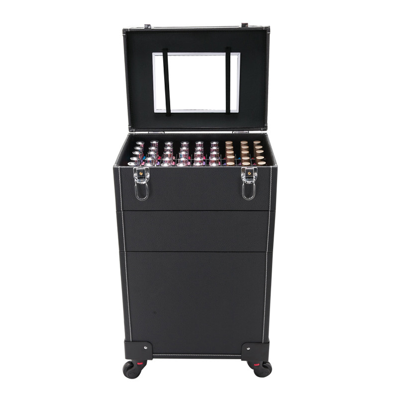Professional Trolley Cosmetic Case,Multi-layer Luggage,Large-capacity And Makeup Nail Box,Large Beauty Toolbox,Trolley Suitcase