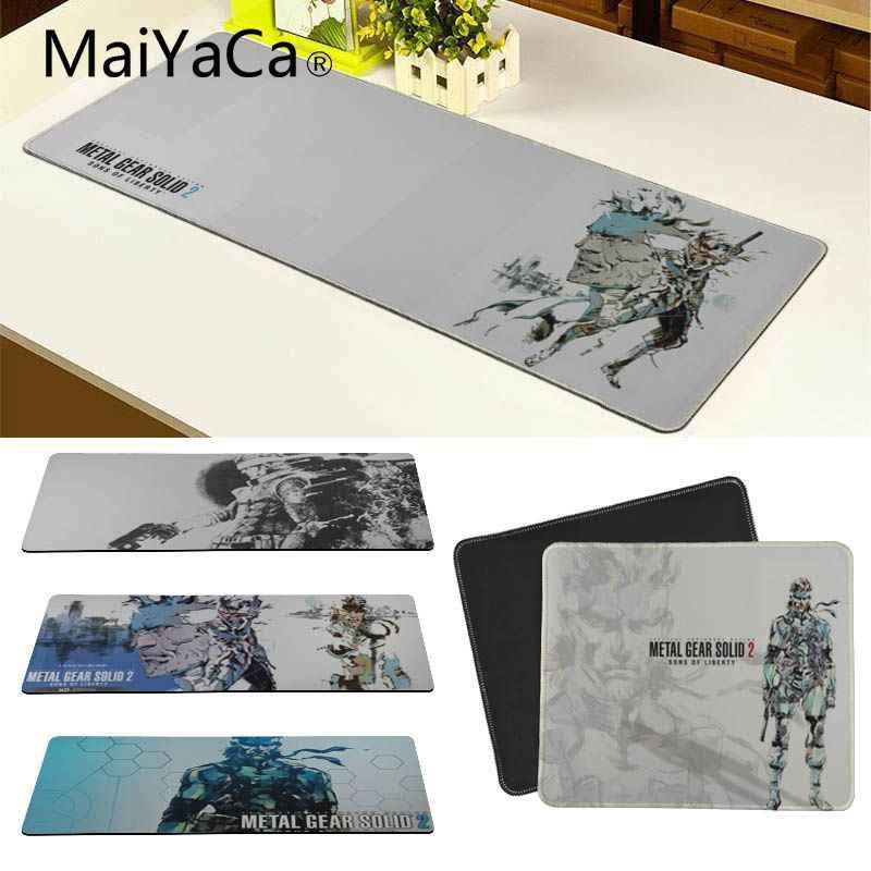MaiYaCa металлическая Шестерня SOLID 2 SONS OF LIBERTY клавишный коврик Rubbe Настольный коврик резиновый и гладкий Стильный коврик для мыши 30X80 30X90 см