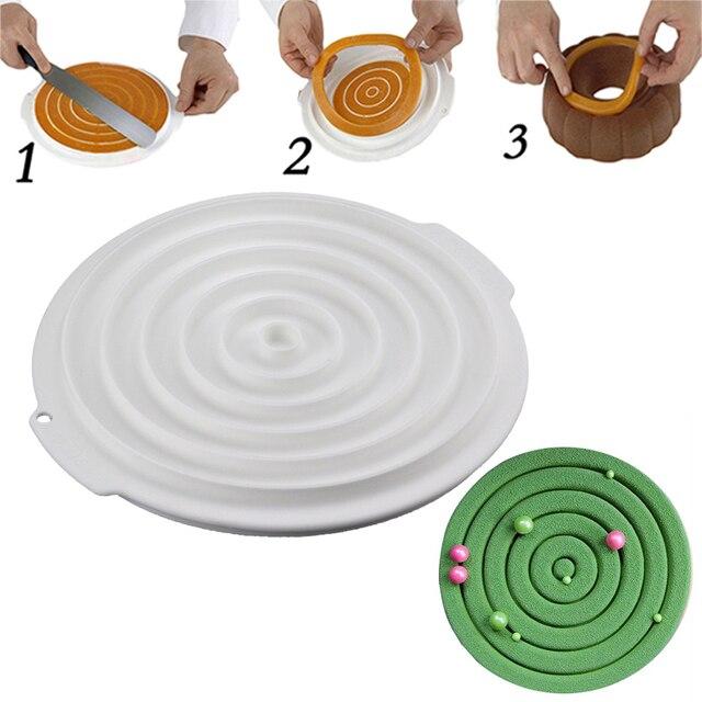 Conception en spirale anneau rond en silicone moule insert for Decoration jardin spirale