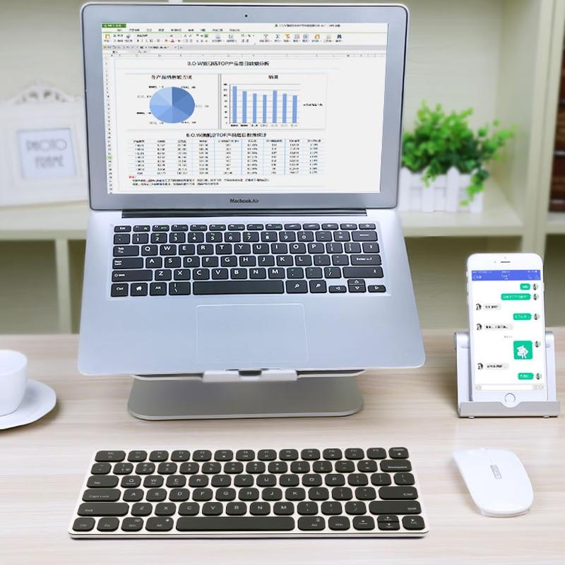 купить B.O.W Bluetooth Backlit ( Backlight) Keyboard, Aluminum Ultra-thin Wireless Keyboard for Desktop, Laptop, Tablets,Smartphone недорого