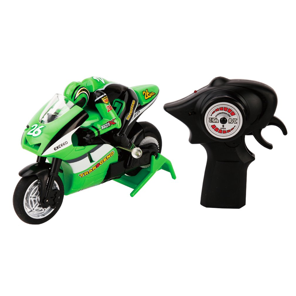 1/20 Scale RC Motorcycle 4 Channel Remote Control RC Racing Motorcycle 2 Wheels High Speed 2.4GHz RC Motorcycle Model Toys Hobby