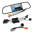 "3 in 1 Dual Core LCD Car Video Parking Assistance Radar Sensor + Rear View Camera + 4.3"" LCD Car Rear view Mirror Monitor"