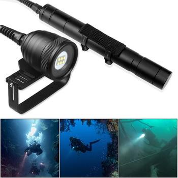 DIV10W Professional Diving LED Flashlight Waterproof 4500 Lumens 6x XM-L2 (U2) LED Underwater 200m Torch Light with 5 Modes ts4u2 cree xml u2 1200 lumens 5 modes led flashlight black