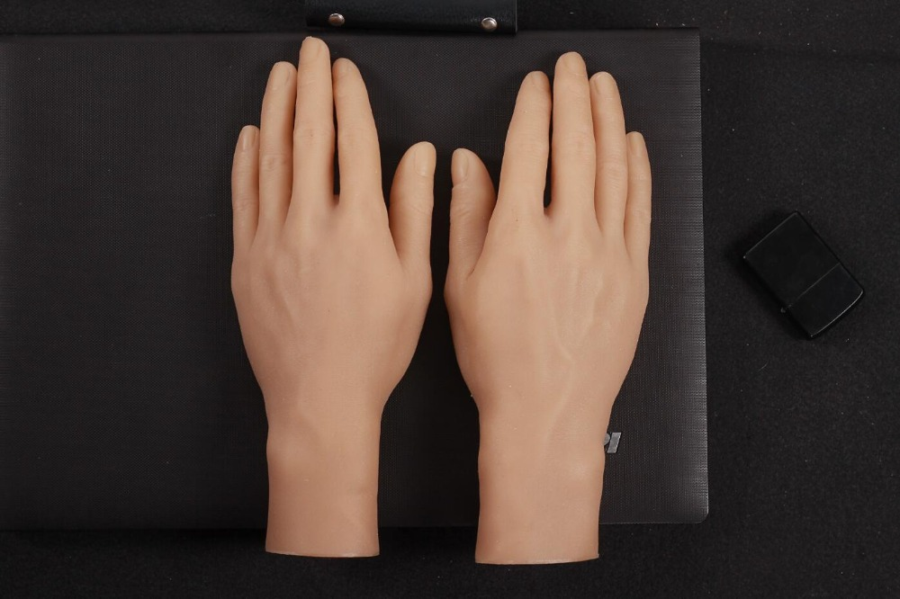 New Simulated Hand Model Silicone Artificial Hand Display Projects Photography of Mans Hand Model Real Man Reversed FingersNew Simulated Hand Model Silicone Artificial Hand Display Projects Photography of Mans Hand Model Real Man Reversed Fingers