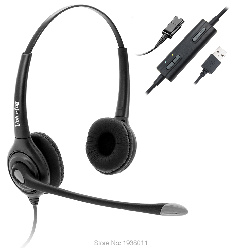 USB Plug Corded Headphone for laptop PC computer Call Center Noise Cancelling Headset With Adjustable Mic
