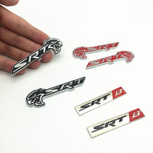 цены FDIK 2PCS/set Car Styling SRT HELLCAT Head Metal Black Red Emblem Badge Sticker for Jeep SRT8 Charger SRT4 SRT6 Auto Car Decal