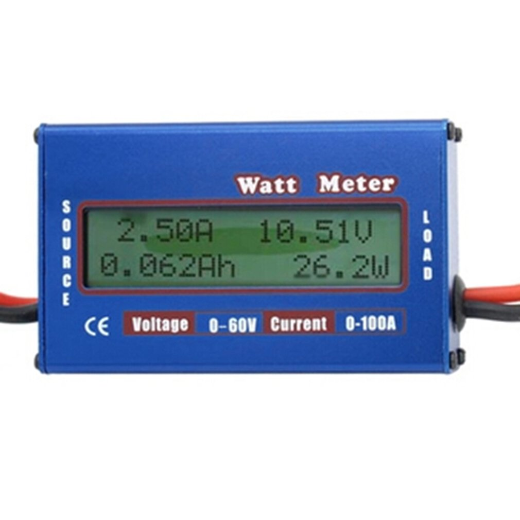 1pc <font><b>100A</b></font> 60V <font><b>DC</b></font> RC Helicopter Airplane Battery Power Analyzer Watt Meter Balancer Wholesale Store 2017 Top Sale Dropshipping image