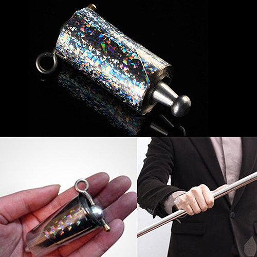 Hot Silver Metal Appearing Cane Wand Stick Stage Magic Trick Gimmick props