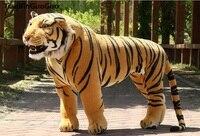 Искусственный Тигр огромный 110x75 см желтый плюшевая игрушка тигр можно ридировать, креативный подарок на день рождения, вечерние docreation пода