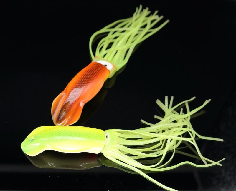2pcs pack 27g artificial squid sepia cutterfish inkfish hard plastic popper lure artificial sleeve fish trolling fishing lure in Fishing Lures from Sports Entertainment