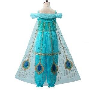 Image 3 - בנות יסמין להתלבש ילדים ליל כל הקדושים חג המולד נסיכת יסמין תלבושות לילדים מסיבת ריקודי בטן שמלת הודי Disfraces