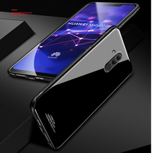 Tempered Glass Case for Huawei Mate 20 Lite Hard Back Cover Soft Silicone Bumper For 20Lite
