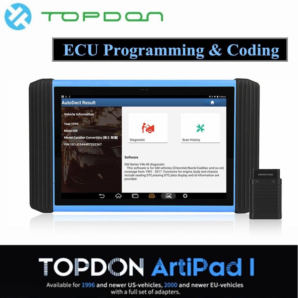 Topdon ArtiPAD я Авто ecu программирования кодирования для Mercedes Benz инструмент диагностики профессиональные автомобильные OBD2 сканер Code Reader