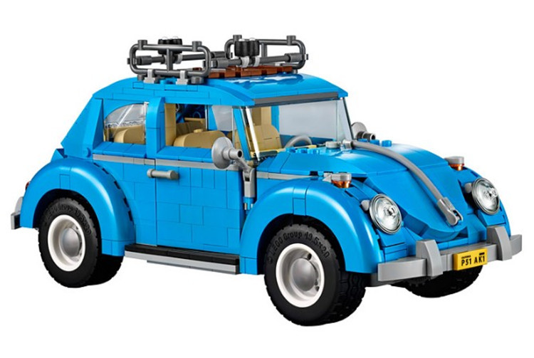 10252 Techinc Series Compatible Legoed Car Volkswagen Beetle model Building Blocks Bricks Toys For Children 21003 10566 Gifts new lepin 21003 series city car beetle model educational building blocks compatible 10252 blue technic children toy gift