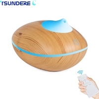 TSUNDERE L 200ML Remote Touch Aroma Essential Oils Diffusers Ultrasonic Smart Aromatherapy Air Humidifier Diffuser Wooden