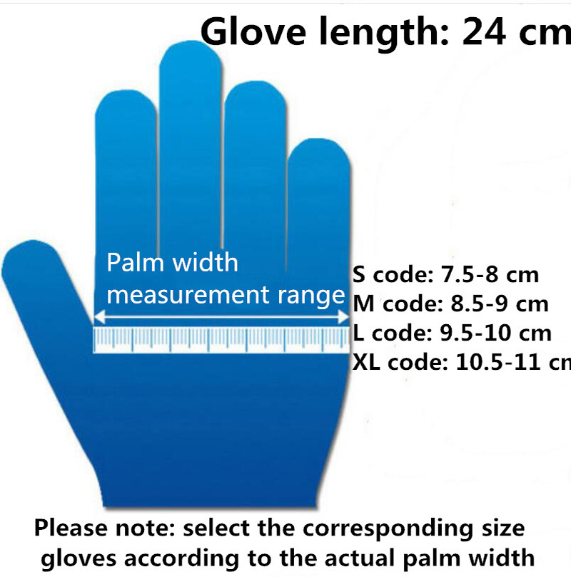 50 to100PCS Disposable Latex Gloves Latex And Anti Bacterial Medical Gloves for Virus and Flu Protection 2