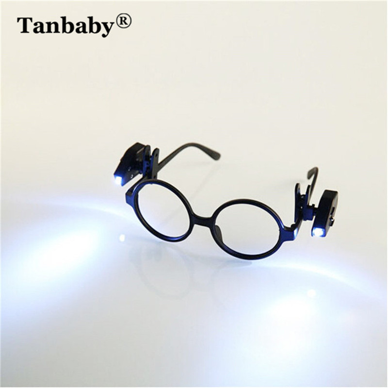 2 Pc Creative Glasses Clip Night Light Mini Portable Lamp For Office Student Reading Study Battery Powered Energy Saving Lamp