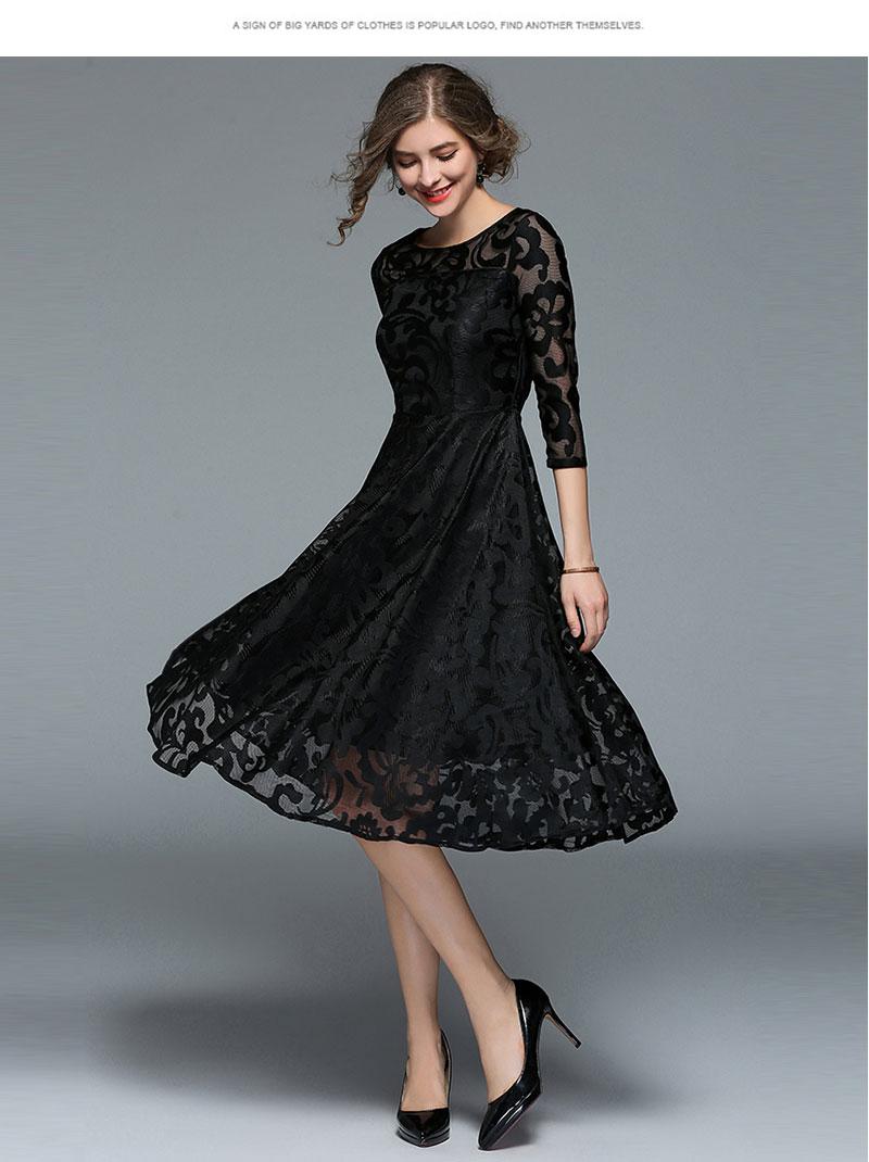 Borisovich New 18 Spring Fashion England Style Luxury Elegant Slim Ladies Party Dress Women Casual Lace Dresses Vestidos M107 6