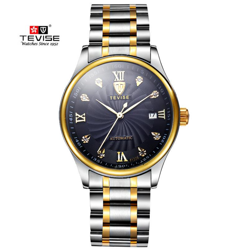 TEVISE Brand Men Mechanical Watches Luxury Fashion Business Watch Automatic Wristwatch Relogio Masculino  Montre Homme 2017 New ce pro air pressure gauge with back light lcd digital tire inflator with gauge digital tyre inflator