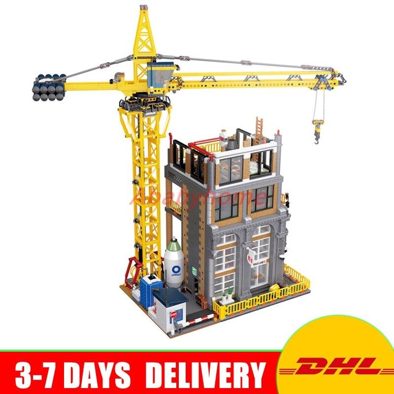 DHL Лепин 15031 4425 шт. MOC здания серии строительство с кран Модель наборы Конструкторы Кирпичи Игрушка