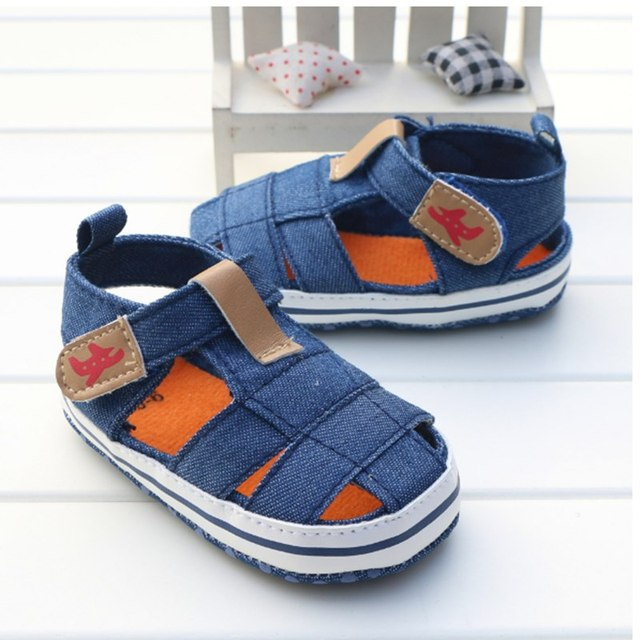 e817d9a4420a8 China Brand Boy Baby Sandals Classic Kids Summer Cool Shoes Newborn  Soft-Soled Anti-Slip Baby Boy First Walkers US Size 3 4 5