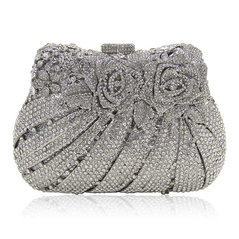 Exquisite Rhinestone Decor Retro Women Evening Handbags Wedding Two Side Crystal Clutch Vintage Bags In From Luggage On