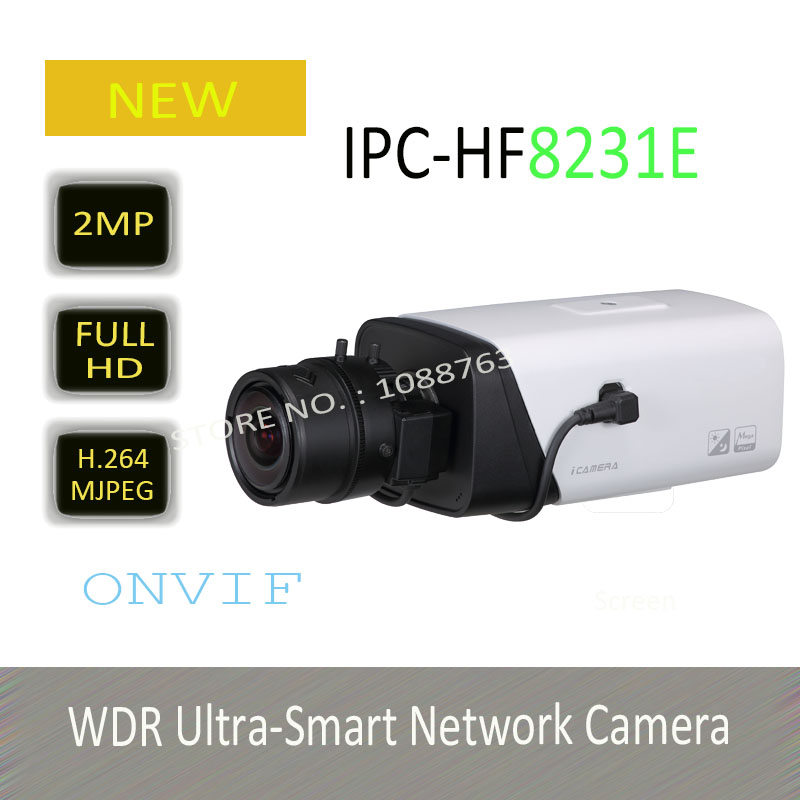 DAHUA 2MP Full HD WDR Ultra-Smart Network Camera with POE H.265 Compression Original English Version without Logo IPC-HF8231E