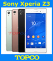 "Sony Xperia Z3 abierto original Quad core Android teléfono móvil Z3 D6603 D6653 WIFI GPS 3 G y 4 G 5.2 "" 20.7MP 16 GB ROM dropshipping"