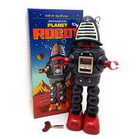 Classic Vintage Clockwork Wind Up Large Robot Photography Children Kids Tin Toys With Key Classic Toys