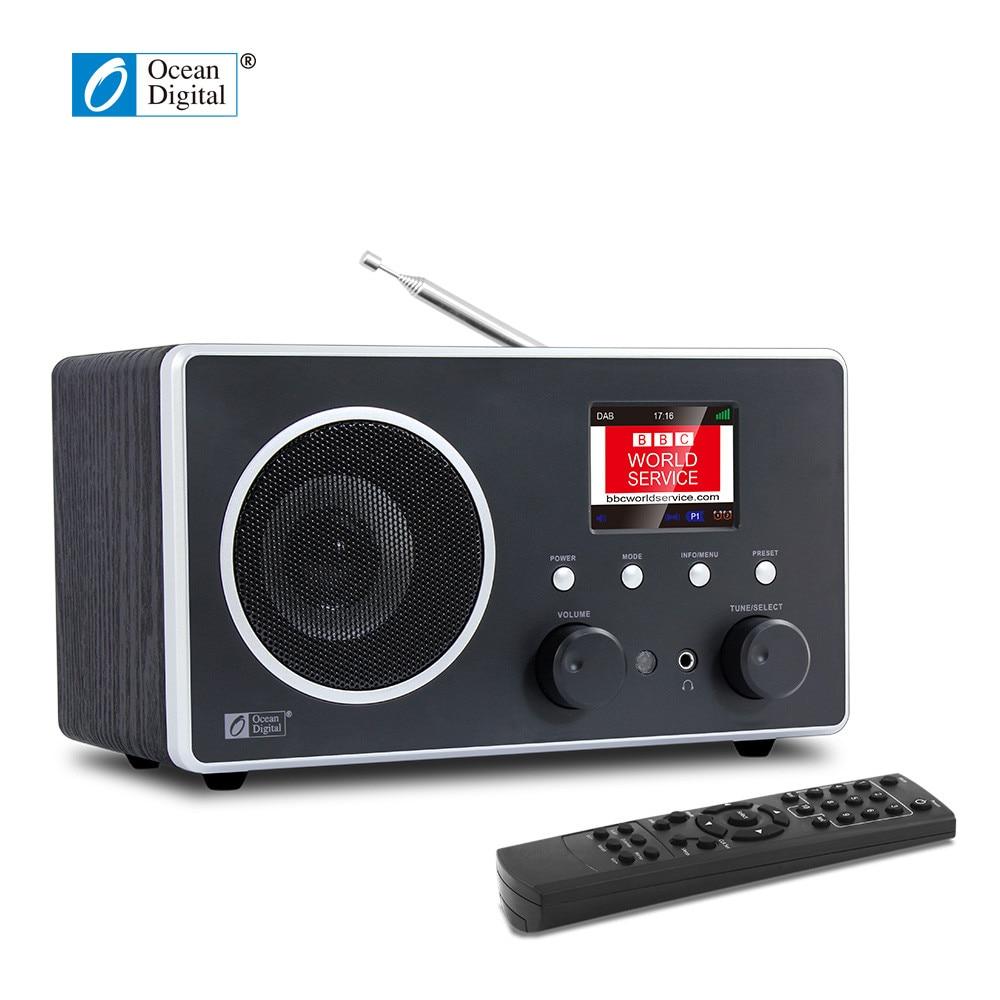 O-013 Ocean Digital DB-280C DAB Digital Radio DAB+FM desktop Wooden Bluetooth digital fm radio digital linternet radio portable fm dab dab radio mini tf bluetooth speaker radd1
