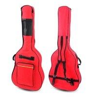 Free Shipping 40 41 Inch Cotton Guitar Bag Black Sponge Thick Shoulders Acoustic Guitar Bag
