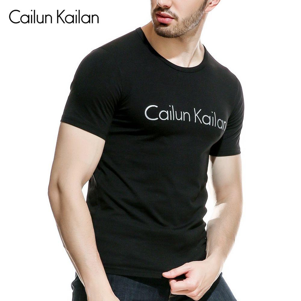 Cotton Casual CAILUN KAILAN Printing Men's T-shirt Top Fashion Short-sleeved Men's T-shirt Men's Tshirt Shirt Men's T Shirt 2019