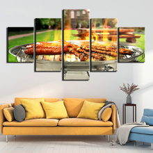 Wall Picture home decor Grilled meat fragrance Canvas painting art print 5 panel canvas Pictures