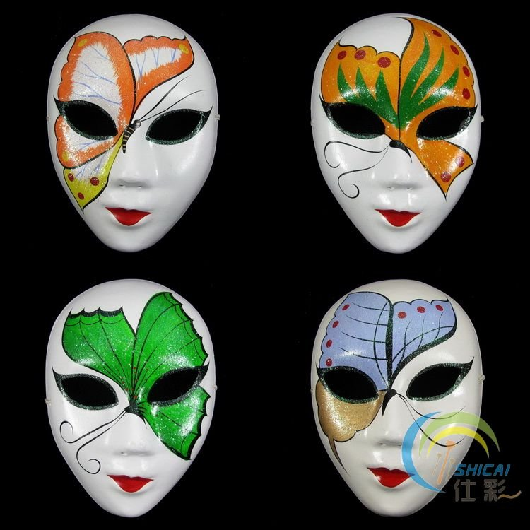 Paper Pulp Butterfly Full Face Mask Handmade Decorating Masquerade Custom How To Decorate A Mask