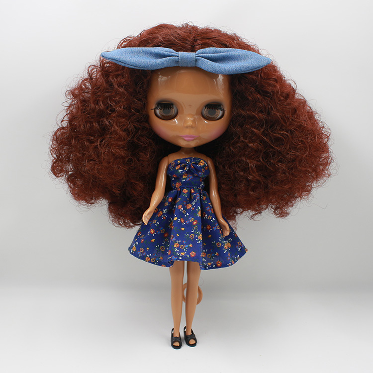 все цены на Free shipping Nude Doll For Series No.280BL0362 Dark brown hair Suitable For DIY Toy For Girl онлайн