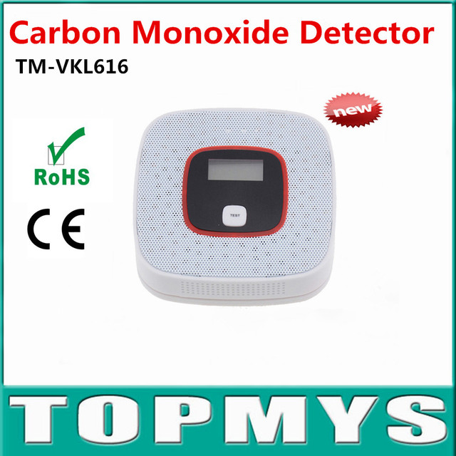 2pcs Carbon Monoxide Detector Tester Fire Alarm Monitor CO Sensor Detector with LCD For Home Security Safety TM-VKL616