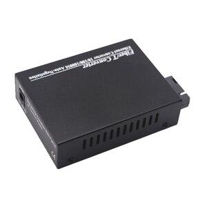 Image 3 - WDM Gigabit Fiber ortam dönüştürücü 1000 Mbps Tek modlu Tek Fiber Optik Alıcı verici Tx1310nm/1550nm SC RJ45