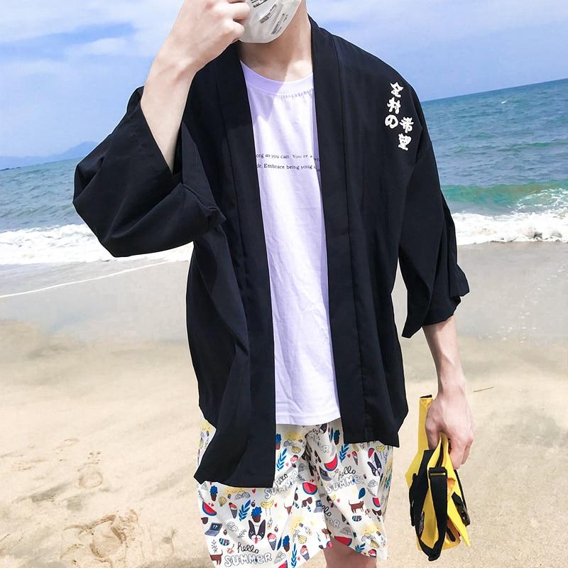 Aliexpress.com: Comprar Harajuku Kimono chaqueta hombres chaqueta de ...