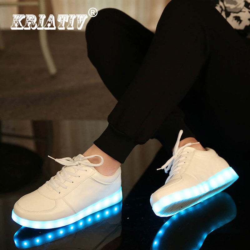 KRIATIV USB Opladere, Tenis Led Enfant Lys Op Træningsbørn Kid Casual Shoes Boy & Girl Luminous Sneakers Glødende Sko Led Tøfler