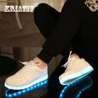 KRIATIV USB chargeur tenis led enfant éclairer les baskets enfant chaussures décontractées garçon et fille baskets lumineuses chaussure rougeoyante led pantoufles