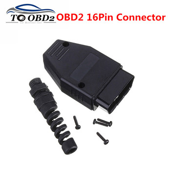 New OBD2 16Pin Male Connector Plug Adapter OBD OBDII EOBD J1962 OBD2 16Pin Wiring Adapter 16Pin Shell Wholesale image