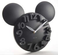 3 Cm Mickey Mouse Acrylic Electronic Large Decorative Wall Clock Modern Design Watch Silent 3D Digital