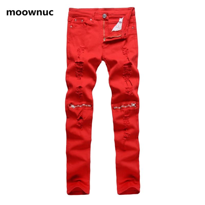 2018 New Style Men Fashion broken hole Jeans Straight Slim Fit Mens Denim Pants Distressed casual men's Jeans Male size 28-38