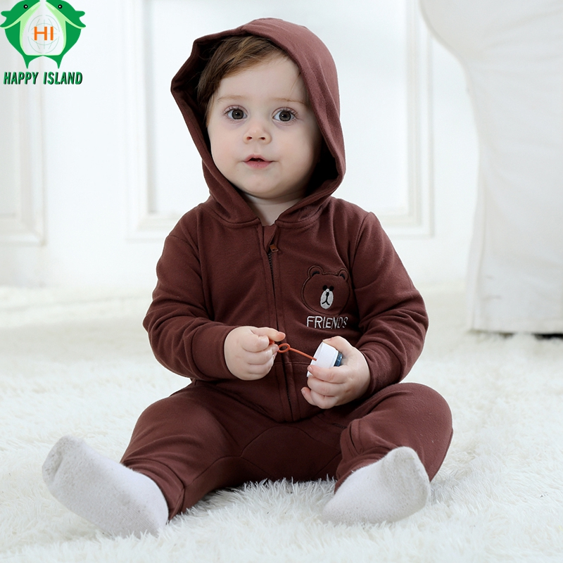 HAPPY ISLAND Spring Autumn Baby Clothes Cotton Baby Boys Clothes Cartoon Animal Jumpsuits Infant Girl Rompers Baby Cute Clothing cotton baby rompers set newborn clothes baby clothing boys girls cartoon jumpsuits long sleeve overalls coveralls autumn winter