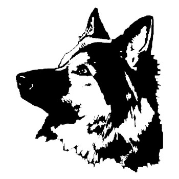 14.2*16.1CM German Shepard Dog Car Stickers Waterproof Vinyl Decal Motorcycle Car Styling Decoration Black/Silver S1-0555 image