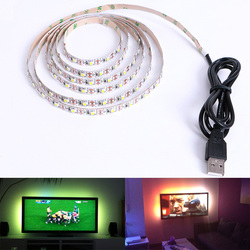 Tira CONDUZIDA DC 5 V USB SMD 3528 RGB Luz Flexível Lâmpadas LED Luz TV Fundo Iluminação Fita Adesiva 50 CM 1 M 2 M 3 M 4 M 5 M
